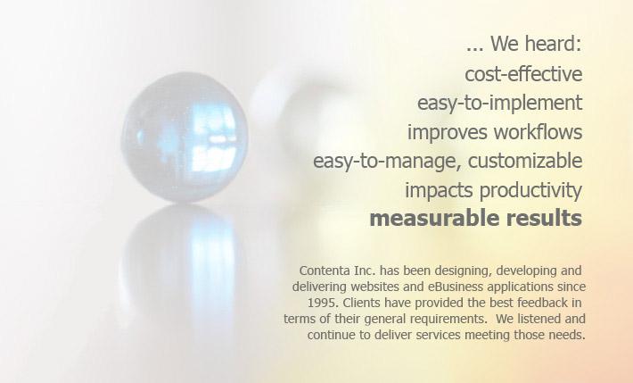 Contenta Web Design and Development